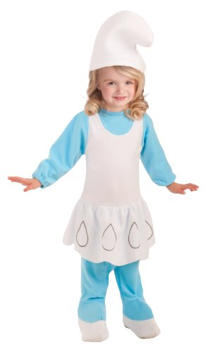 [Rubie's Costume The Smurfs 2 Smurfette Romper and Headpiece, Blue/White, Newborn] (Smurf Costume 2 Year Old)