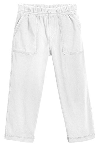 - City Threads Little Boys' and Girls' Soft Jersey Tonal Stitch Pant Perfect for Sensitive Skin SPD Sensory Friendly Clothing - White 3T