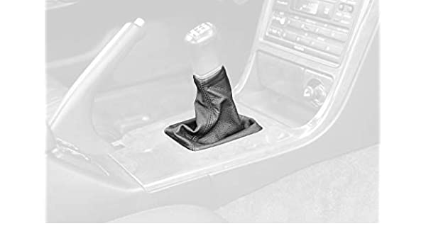 Dual Black Leather-Blue Thread RedlineGoods Shift Boot Compatible with Jeep Wrangler YJ 1987-95