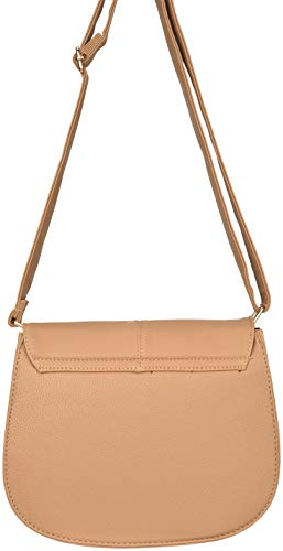 Faux Tone Body Leather Gold Hardware Harbor Cross with Casual Bag Beige Sag HTxAqwC
