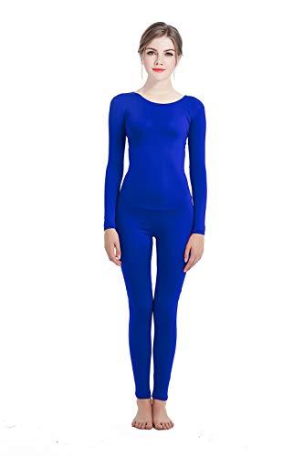 Zentai bodysuit Jumpsuit Cosplay Costume Elastic Spandex Lycra Men's Women's Unisex Masquerade Carnival Halloween ... (Large, Blue) -