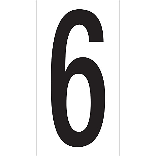 Boxes Fast Vinyl Warehouse Number Labels,6'', 3 1/2, Black/White, (Pack of 50) by Boxes Fast