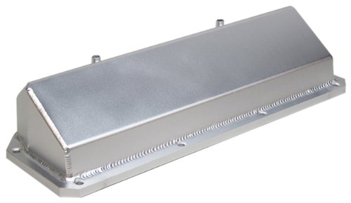 PRW 4035100 Satin Silver Anodized Aluminum Valve Cover for Ford 302B/351C/351M/400