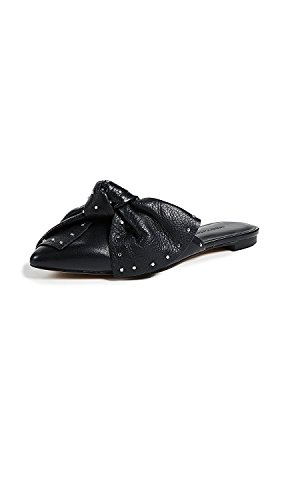 Rebecca Minkoff Womens Alexis Leather Pointed Toe Mules, Black, Size 6.5