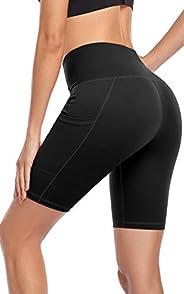 BROMEN High Waist Leggings for Women Tummy Control Yoga Pants 7/8 Length Ultra Soft Running Tights with Inner