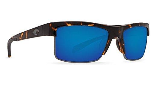 Costa Del Mar South Sea Sunglasses, Retro Tortoise/Gunmetal, Blue Mirror 580Plastic Lens ()