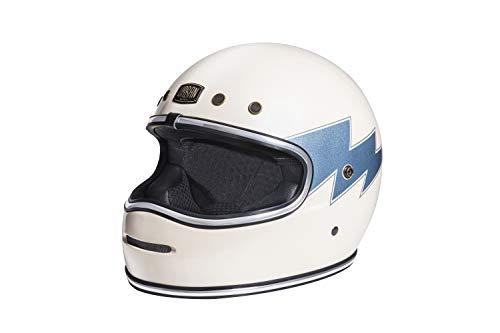 Capacete Urban Bigbore Thunder, Urban Helmets , Branco/Azul ,Tamanho S