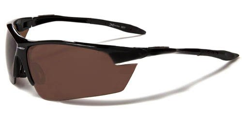 Brown Replica Sunglasses (X Loop Mens / Womens / Unisex Athletic Sport Designer Fashion Sunglasses with UV400 Lens - Available in Black / Silver / Blue / Red / Brown - Includes Custom Branded Microfiber Pouch & Cleaning Cloth)
