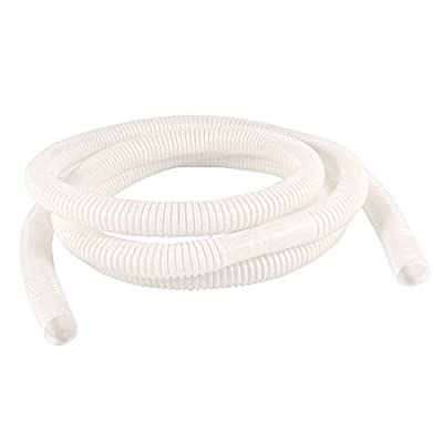 Plastic Drain Hose Pipe for Air Conditioner 2M 6.6Ft 15mm x 16mm White