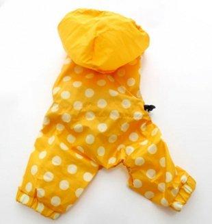 Amarillo lunares perro traje agua coat - 5 tamaños: Amazon ...