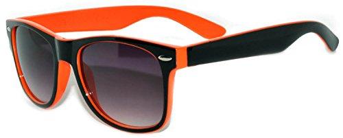 Vintage Two Tone - Black-Orange Frame Style Sunglasses Retro Style