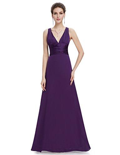 Cross Back Formal Dress - 1