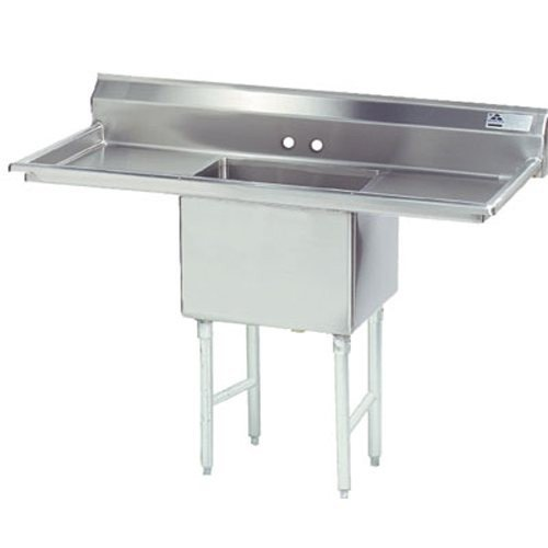 Fabricated Sink - 18x24x14 Bowl, 18 R-L Drainboard, 16-ga 304-Stainless, Each - Advance Tabco FC-1-1824-18RL