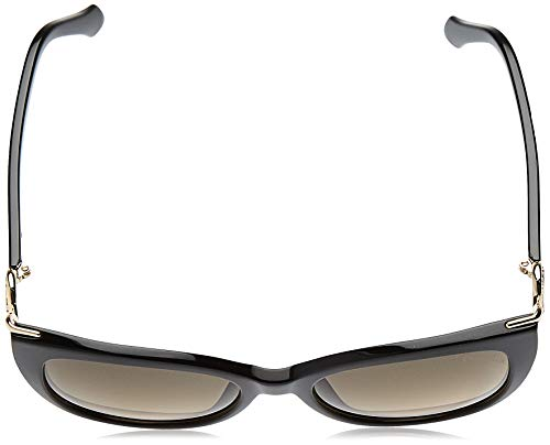 Roberto Cavalli 2018 Giannutri RC-1063 01B Women Black & Gold Cat-Eye Sunglasses