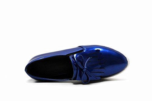 Latasa Kvinna Mode Slip På Plattform Tofs Dagdrivare Skor Mörkblå