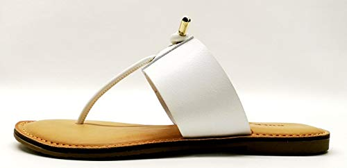 Rock & Candy Women's Britta Flat Sandal White 9 Medium US ()
