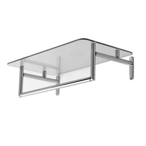 "Ginger 0243-24/PC Sine 24"" Hotel Shelf with Towel Bar, Polis"