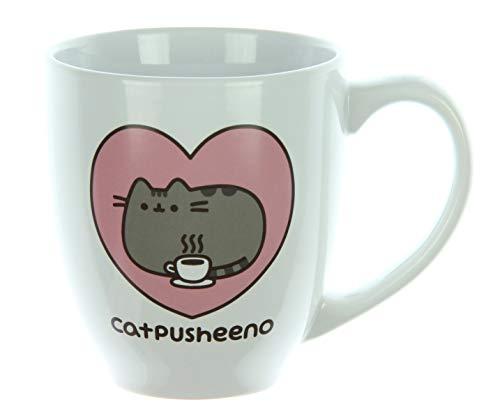 - Pusheen Cat 18 oz Mug,White