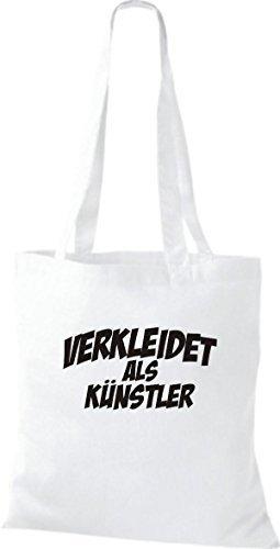 Camiseta InStyle bolsa de carnaval Calidad como artista, decoraciones disfrazaran, varios colores blanco - blanco
