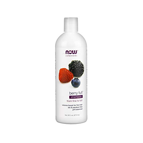 Berry Full Conditioner - NOW Solutions, Berry Full, Volume Boost Shampoo for Fine Hair with Biotin, pH Balnced, 16-Ounce