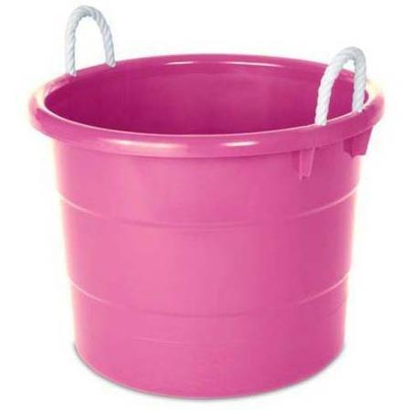 Toy Rope 18 - Homz 18-Gallon Kids Storage Rope Handle Tub, Set of 4, Pink