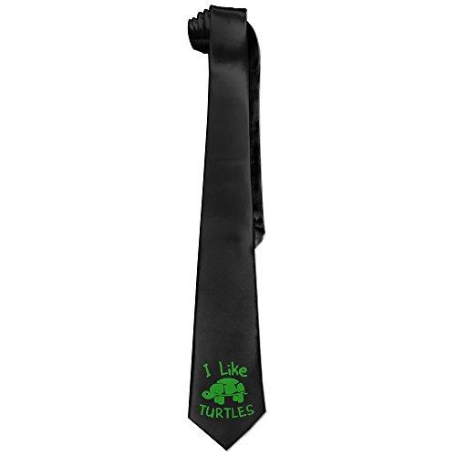 I Like Turtles Costume (Ggift I Like Turtles Mens Fashion Business Solid Necktie Tie)