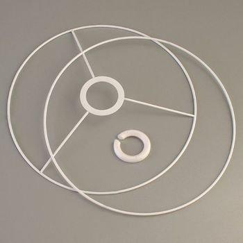 Efco Set d'Ossature de Diamètre 25cm pour Abat-Jour, Anneaux Ronds en Epoxy Blanc, pour Douille Diam 40mm 2213625