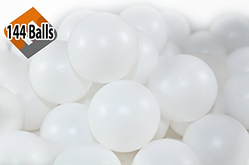 Cheap 144 Beer Pong Balls - Ping-Pong Balls Washable Plastic (White)
