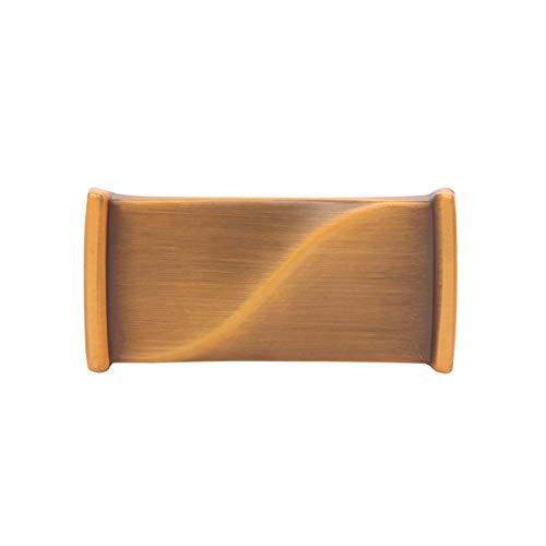 NiceShop16 Brushed Dresser Drawers Knobs Antique Rectangular Kitchen Cabinet Knobs 6 Pack (Brown)