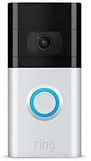 Nuevo Ring Video Doorbell 3 – con video 1080p HD, detección de movimiento mejorada y fácil instalación