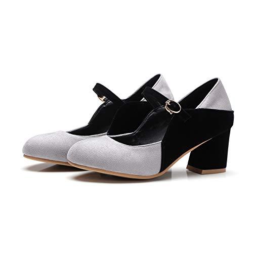 AdeeSu Gris Femme Sandales Compensées SDC05762 TYrqY6PR