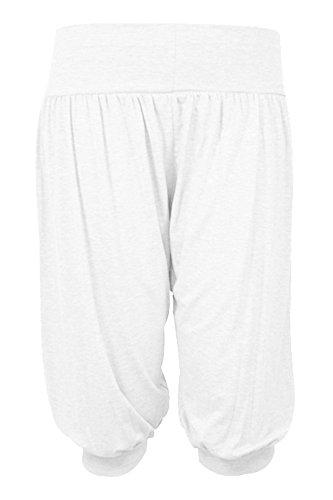 Cropped Pantalon xxxl Fantaisie Baggy Fashions S Pantalons Mesdames 3 4 Femmes Ali Sarouel Islander Baba Legging White TU0PvqZ