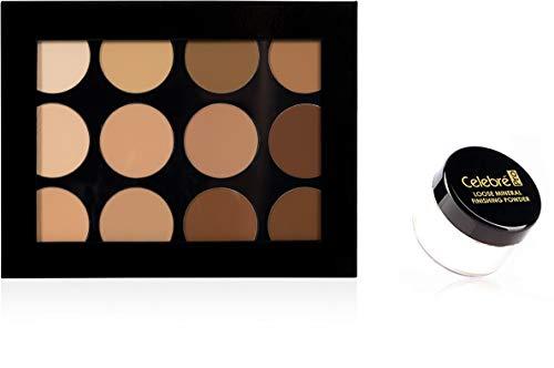 Mehron Makeup Celebre Pro-HD Contour & Highlight Palette with Translucent Mineral Powder