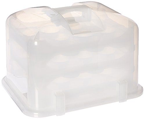 Cupcake Courier G0214B Cupcake Carrier- White Translucent,]()
