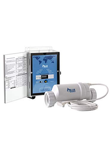 - BLUE WORKS Pool Chlorine Generator Chlorinator BLH40 | for 40k Gallon Pool | with Flow Switch and Salt Cell | Cell Plates Made in USA | 5 Year Limited Warranty (White)