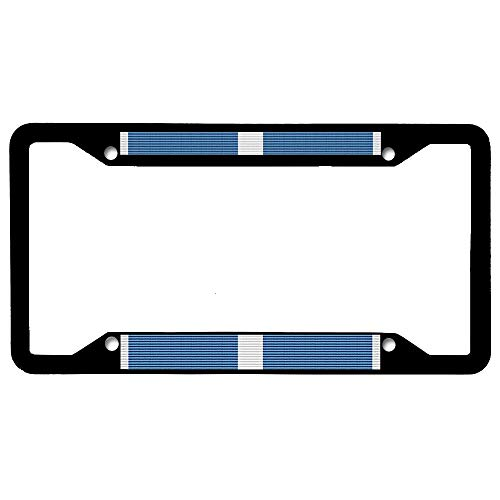 URCustomPro Korean Service Medal Ribbon License Plate Frame, Stainless Steel Car Tag Cover, Military License Plate Cover Holder for US Standard, 4 Holes with Screws ()