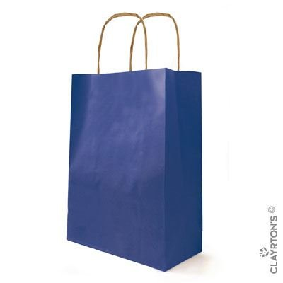 4fc549767dd8 50 Medium Kraft Twist Handle Paper Carrier Bags Navy Blue (3873)   Amazon.co.uk  Kitchen   Home