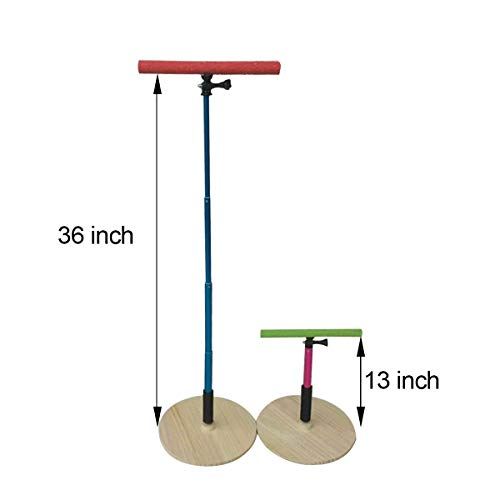 Adjustable Perch - TOYPOPOR 36 INCH Standing Adjustable Height Parrot Training Perch Stand Bird Travel Perches Indoor and Outdoor
