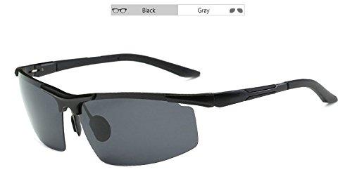 de de TL Sunglasses de de Hombres polarizadas magnesio el Gris Sol Aluminio Gafas con Sol UV400 Cuadro Gray Sol de Mando Gafas Gafas z6HWAqH