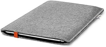 Estuche de fieltro para Apple iPad Pro 12.9 (2015) | Bolsa de fieltro de lana Merino | Modelo LEON en gris claro/naranja | Bolsa protectora para tabletas Made in Germany: Amazon.es: Electrónica