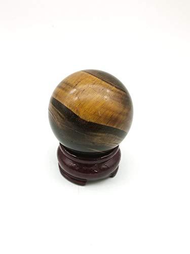 (shangbo Healing Crystal Gift/Natural Tiger Eye Gemstone Crystal Sphere Ball 2''-2.2''(50mm-55mm) for Reiki,Divination,Meditation,Chakra Balance,Decoration)