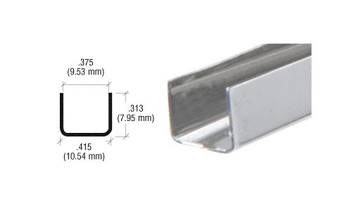 CRL 3/8'' Stainless Steel ''U'' Channell - Pack of 10 - 12 ft Each by C.R. Laurence (Image #2)