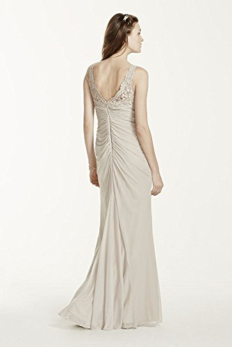 Sleeveless Long Mesh Bridesmaid Dress with