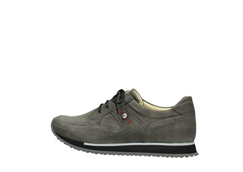 Sneakers Wolky Comfort E-walk 20201 In Pelle Stretch Grigio Scuro