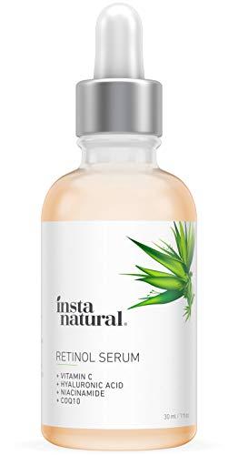 Deep Wrinkle Serum (InstaNatural Retinol Serum - Anti Wrinkle Anti Aging Facial Serum - Helps Reduce Appearance of Puffiness, Wrinkles, Crows Feet & Fine Lines - with Vitamin C & Hyaluronic Acid - 1 oz)