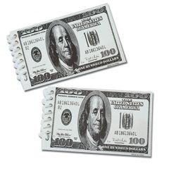 $100 Dollar Bill Spiral Notebook - 12 (Dollar Notepad)