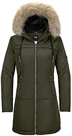 ZSHOW Women's Outdoor Winter Coat Windproof Quilted Puffer Jacket(Army Green,Small)
