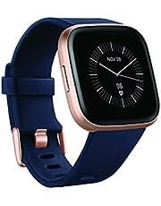 ساعة ذكية من فيتبيت فيرسا 2 الإصدار الخاص للصحة واللياقة البدنية - كحلي وزهري منسوج / نحاسي روز ألومنيوم