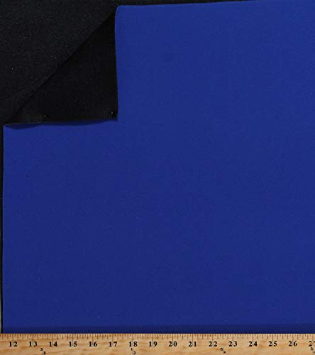Loop Display Fabric (Hook Compatible) Royal Blue Nylon Face Fabric with Black Polyester Foam Back 60