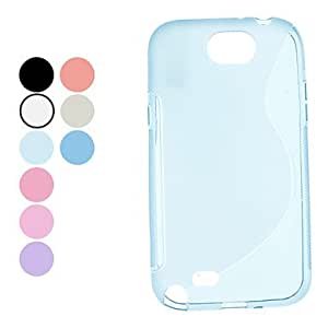 Solid Color Soft Case for Samsung Galaxy Note 2 N7100 (Assorted Colors) --- COLOR:White